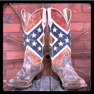 ROPER Rebel Flag Americana Distressed Cowboy Boot